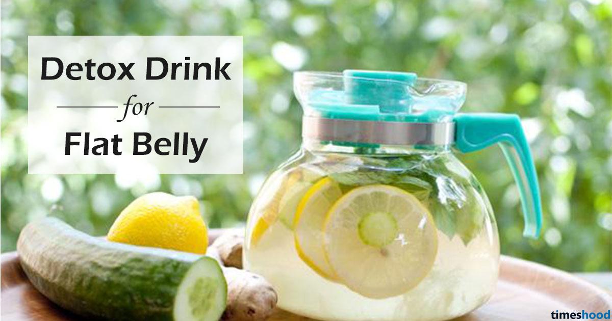 Detox Drink For Flat Belly 5 Ingredients Diy Recipe